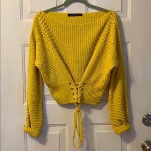 Sunflower Yellow Cropped Sweater 🌻